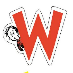 Dr. Seuss Magnetic Wooden Letter W