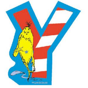 Dr. Seuss Magnetic Wooden Letter Y