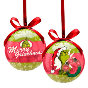 Dr. Seuss Grinchmas Decoupage Light-Up Ornament