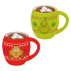 Dr. Seuss Grinchmas Ugly Sweater Salt and Pepper Shaker Set