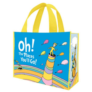 Dr. Seuss Oh the Places Youll Go Large Recycled Shopper Tote