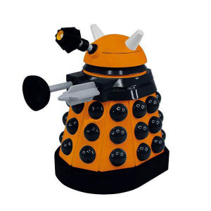 Doctor Who Titans Orange Strategist Paradigm Dalek Vinyl Figure.
