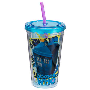 Doctor Who Comic Book 18 Ounce Acrylic Travel Cup