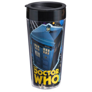 Doctor Who Comic Book 16 Ounce Plastic Travel Mug