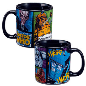 Doctor Who Comic Book 20 Ounce Ceramic Mug
