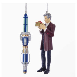 Doctor Who 12th Doctor and Sonic Screwdriver 5-Inch Ornament 2-Pack