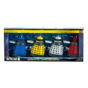 Doctor Who Dalek 2.25 Inch Mini-Ornament Gift 4-Pack