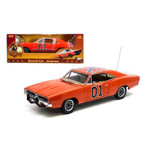 Dukes of Hazzard General Lee 1969 Dodge Charger 1/18th Scale Die-Cast Metal Vehicle