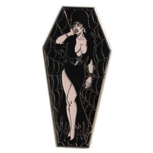 Elvira Black Coffin Lapel Pin