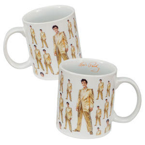 Elvis Presley Gold Suit 12oz Decal Mug