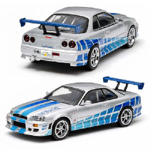 2 Fast 2 Furious 1999 Nissan Skyline GT-R (R34) 1/18th Scale Die-Cast Metal Vehicle