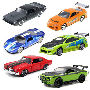 Fast and Furious 1/32nd Scale Die-Cast Vehicle Wave 6 Case. Case includes 6 individually packaged vehicles  - 1 1995 Toyota Supra - 1 1970 Chevy Chevelle SS  - 1 1973 Plymouth Barracuda  - 1 2005 Ford GT - 2008 Dodge Challenger SRT8 Off-Road - 1 1995 Mits
