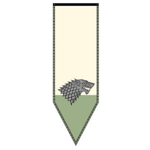 Game of Thrones Stark Winterfell Banner