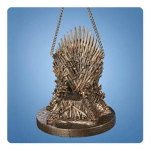 Game of Thrones 4 Inch Resin Throne Holiday Ornament