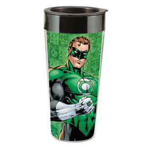 Green Lantern 16  Ounce Plastic Travel Mug