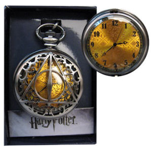 Harry Potter Deathly Hallows Filigree Pocket Watch