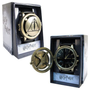 Harry Potter Deathly Hollows Logo Strap Spinner Watch