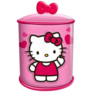Hello Kitty Cupcake Ceramic Cookie Jar