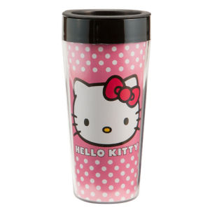 Hello Kitty 16 Ounce Plastic Travel Mug