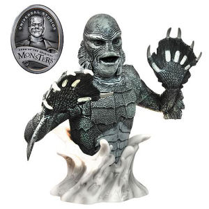 Universal Monsters Creature from the Black Lagoon Black and White Bust Bank