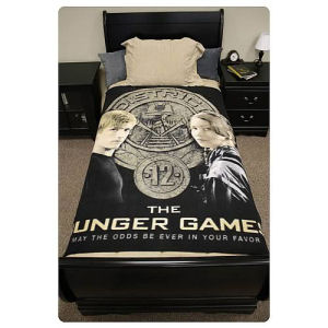 Hunger Games Movie Katniss and Peeta Polar Fleece Bed Throw