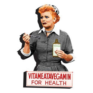 I Love Lucy Vitameatavegamin Funky Chunky Magnet