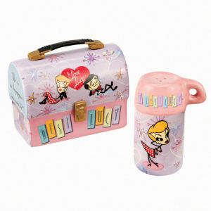 I Love Lucy Stick Figure Dome Lunch Box Salt and Pepper Set