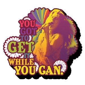 Janis Joplin Get it Funky Chunky Magnet
