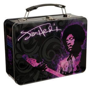 Jimi Hendrix Large Lunchbox Tin Tote