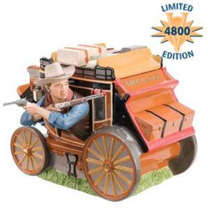 Limited Edition John Wayne Sculpted Stagecoach Cookie Jar 4800