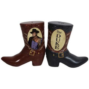 John Wayne The Duke Boots Salt and Pepper Shakers