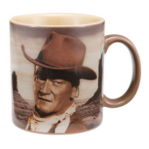 John Wayne A mans got to do... 12 oz. Decal Mug