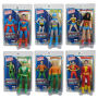 Justice League 8 Inch Retro Action Figures Series 1 Case. Case includes 12 individually packaged action figures - 2 Wonder Woman - 2 Superman - 2 Green Arrow - 2 Shazam - 2 Aquaman.