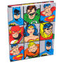DC Heroes Grid Hardcover Journal. Journal measures 8 inches tall by 6 inches wide with 80 lined sheets (160 pages total).