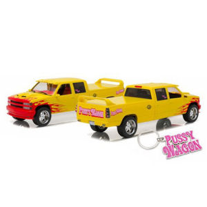 Kill Bill 1997 Chevrolet C-2500 Crew Cab Silverado Pussy Wagon 1/18th Scale Artisan Collection Die-Cast Metal Vehicle