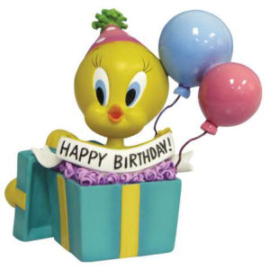 Warner Brothers Looney Tunes Tweety Happy Birthday! Figurine