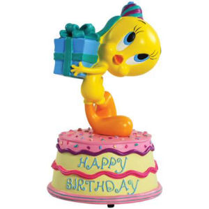 Warner Brothers Looney Tunes Happy Birthday Tweety Musical Figurine