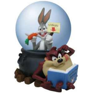 Warner Brothers Looney Tunes Bugs Bunny and Taz 85mm Water Globe
