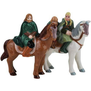 Lord of the Rings Horseback Magnetic Salt and Pepper Shakers