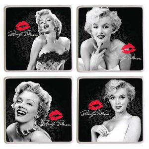 Marilyn Monroe Ceramic Coaster 4 Pack