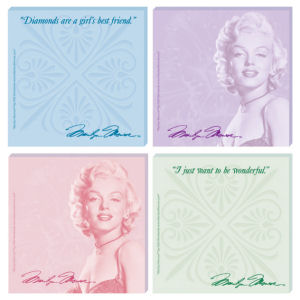 Marilyn Monroe Sticky Notes Set of 4