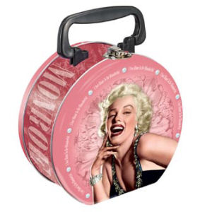 Marilyn Monroe Round Lunchbox Tin Tote