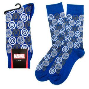 Marvel Comics Favorites Blue Socks