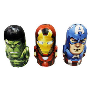 Marvel Heroes Head-Shaped Tin Bank Case