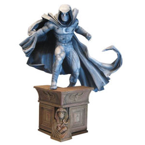Marvel Premier Collection Moon Knight Statue. Statue measures 12 inches tall.