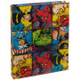 Marvel Comics Character Grid Hard Covered Journal. 80 Lined sheets of paper at 6 inches by 8 inches high. Includes a Ribbon Page Holder.