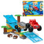 Mega Bloks Blaze Blaze and the Monster Machines Jungle Ramp Rush. Contains 50 pieces. Ages 3 and up.