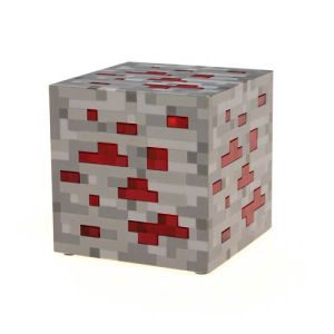 Minecraft Light-Up Redstone Ore Statue
