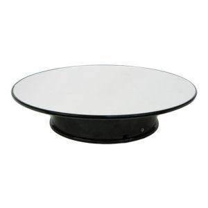Mirror Top 8-Inch Diameter Rotating Display Case