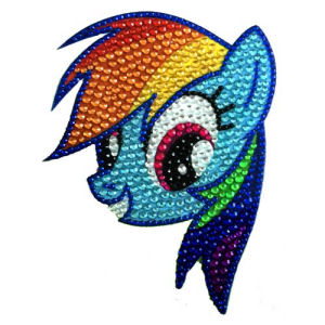 My Little Pony Rainbow Dash Crystal Studded Decal